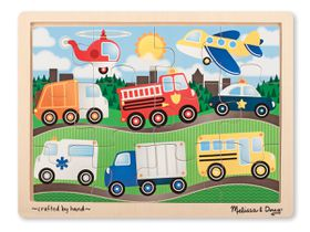 Melissa & Doug Vehicles Jigsaw - 12 Piece