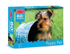 Melissa & Doug Puppy Pail Jigsaw Puzzle - 60 Piece