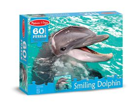 Melissa & Doug Smiling Dolphin Jigsaw Puzzle - 60 Piece