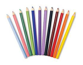 Melissa & Doug Jumbo Triangular Coloured Pencils - Set of 12