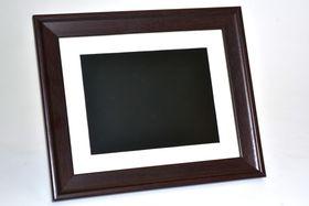"""Mivision 8"""" Digital Photo Frame Wood Finish"""