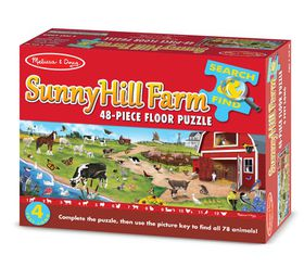 Melissa & Doug Search and Find Sunny Hill Farm - 48 Piece