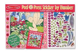 Melissa & Doug Sticker by Number - Flower Garden Fairy