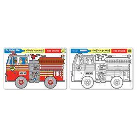 Melissa & Doug Fire Engine Colour-A-Mat - Bundle of 6