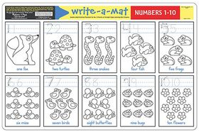 Melissa & Doug Numbers 1 - 10 Write-A-Mat - Bundle of 6