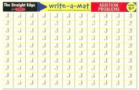 Melissa & Doug Addition Problems Write-A-Mat - Bundle of 6