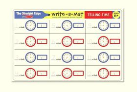 Melissa & Doug Telling Time Write-A-Mat - Bundle of 6