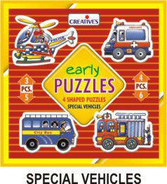 Creatives Toys Early Puzzles Special Vehicles