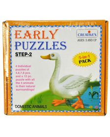 Creatives Toys Early Puzzle Step II - Domestic Animals