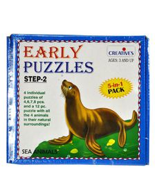 Creatives Toys Early Puzzle Step II - Sea Animals