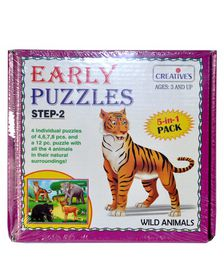 Creatives Toys Early Puzzle Step II - Wild Animals