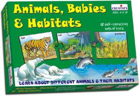 Creatives Toys Animals Babies & Their Habitats