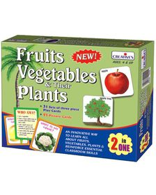 Creatives Toys Fruits Vegetables & Their Plants - 2 in 1 Game