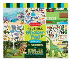 Melissa & Doug Habitats Reusable Sticker Pad