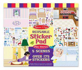 Melissa & Doug Play House Reusable Sticker Pad