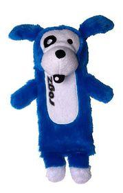 Rogz - Thinz Small 20cm Plush Refillable Squeak Dog Toy - Blue