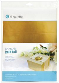 Silhouette CAMEO Printable Gold Foil