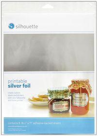 Silhouette CAMEO Printable Silver Foil