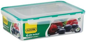 Addis - Rectangle 4 Sided Clip Lock Saver With Divisions - 2.8 Litre