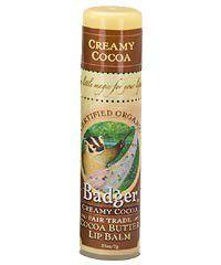 Badger Creamy Cocoa Lip Balm - Creamy Cocoa - Organic