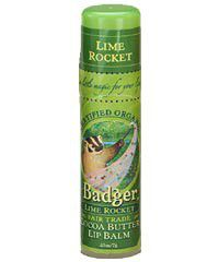 Badger Cocoa Butter Lip Balm Lime Rocket - Organic