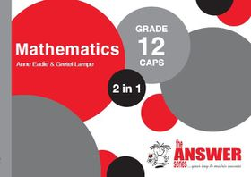 the answer series grade 12 mathematics p a study guide buy online rh takealot com study and master mathematics grade 12 caps study guide CAHSEE Math Study Guide