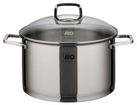 Elo - Straightline Stainless Steel Casserole With Glass Lid - 20cm