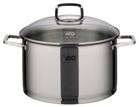 Elo - Straightline Stainless Steel Casserole With Glass Lid - 24cm