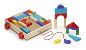 Melissa & Doug Unit Blocks Cart