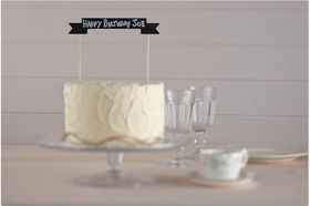 Ginger Ray - Chalkboard Wooden Cake Bunting