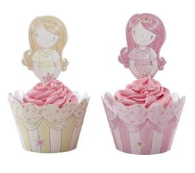 Ginger Ray - Cupcake Wraps and Toppers - Pack Of 10