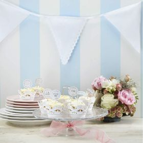 Ginger Ray - Fabric Bunting White