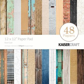 Kaisercraft Basecoat 12x12 Paper Pad - 48 Pages