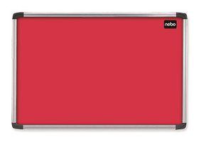 Nobo Elipse Felt Notice Board 600mm x 900mm - Red