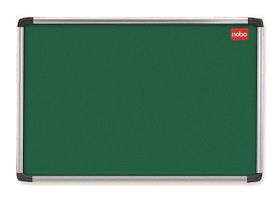Nobo Elipse Felt Notice Board 600mm x 900mm - Green