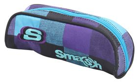 Smash 1 Division Tube Pencil Case - Blue & Grey