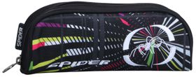 Spider 1 Division Tube Pencil Case - Black