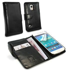 Tuff-Luv Vintage Leather Wallet Case Cover for Samsung Galaxy S5 Mini - Black