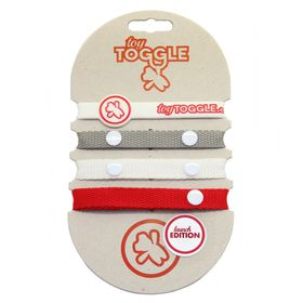ToyToggle - Unisex Launch Edition Toy Straps - Silver - White and Red