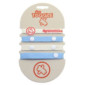 ToyToggle - Baby Toy Straps for Boys - Blue and White