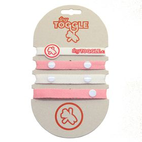 ToyToggle - Baby Toy Straps for Girls - Pink and White