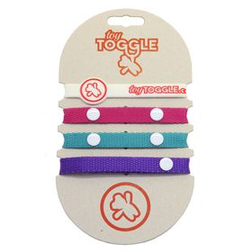 ToyToggle - Diva Toy Straps for Girls - Purple - Cerise - Pink and Teal