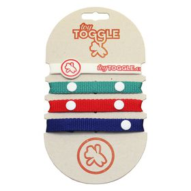 ToyToggle - Popular Toy Straps for Boys - Navy Blue - Red and Teal