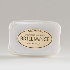 Tsukineko Brilliance Ink Pad - Galaxy Gold