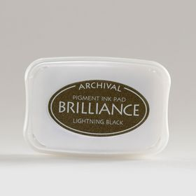 Tsukineko Brilliance Ink Pad - Lightning Black
