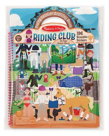 Melissa & Doug Deluxe Puffy Sticker Album - Horse Scenes
