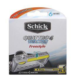 Schick Quattro Titanium Freestyle Male Blades 6's