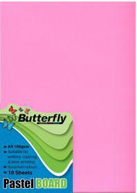 Butterfly A4 Pastel Board 10s - Pink