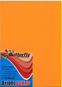 Butterfly A4 Bright Board 10s - Orange