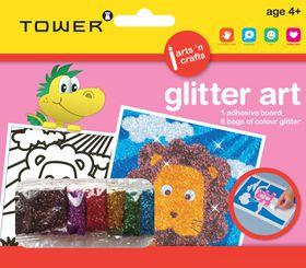 Tower Kids Glitter Art - Lion
